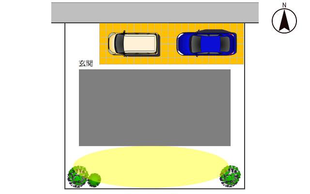 北向きの駐車場1