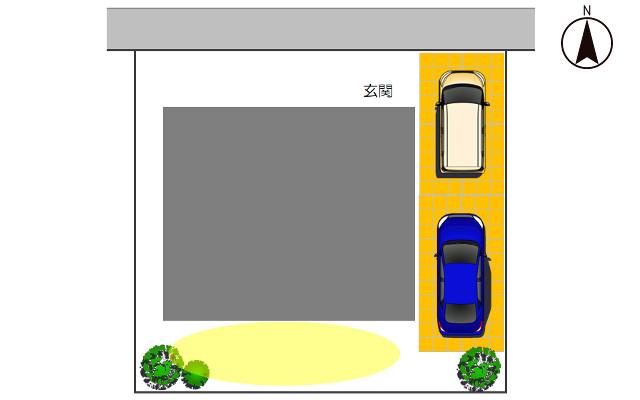 北向きの駐車場3