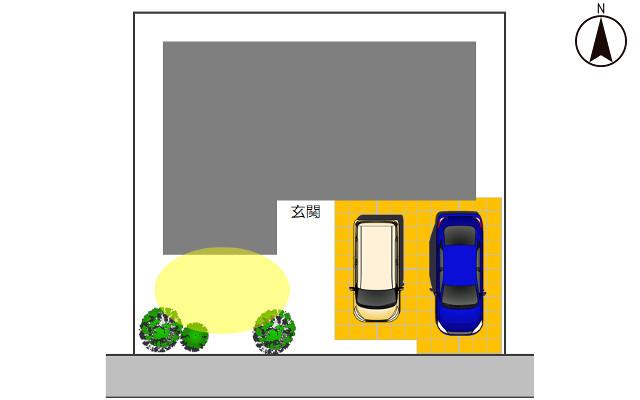 南向き土地の駐車場1