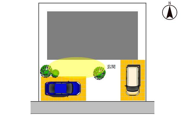 南向きの駐車場3