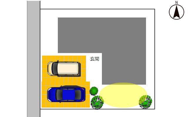 西向きの駐車場1