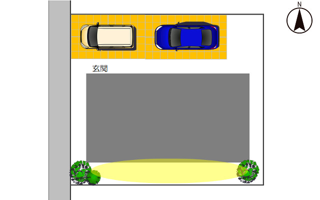 西向きの駐車場3