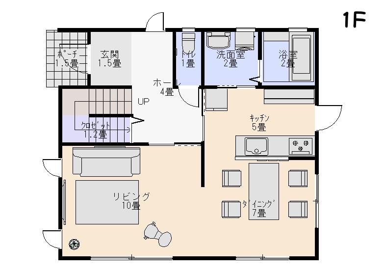 家を安く建てる間取り1階