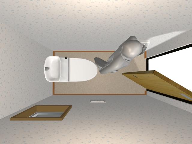 1.0畳トイレの内開きドア