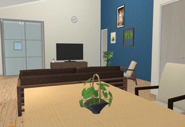 3LDK平屋テレビの位置