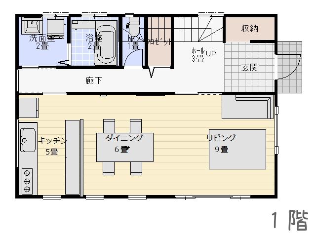 キッチンのレイアウト1階