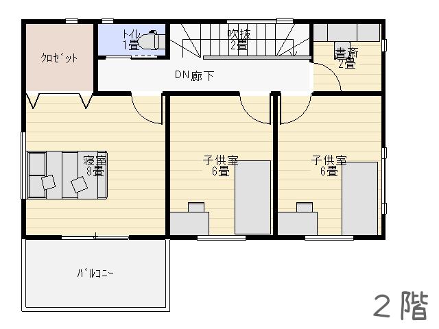 キッチンのレイアウト2階