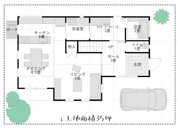 二階建てに必要な土地面積