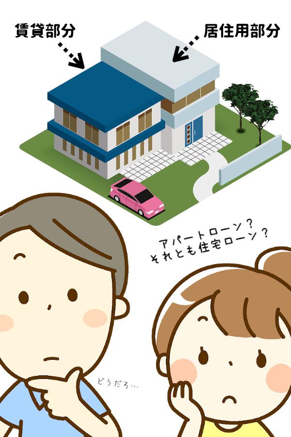 賃貸併用住宅は、住宅ローンかアパートローンか