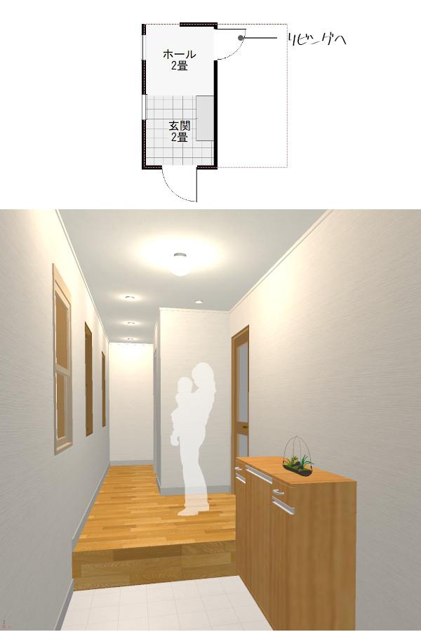 標準的な玄関