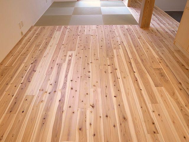 杉の無垢床