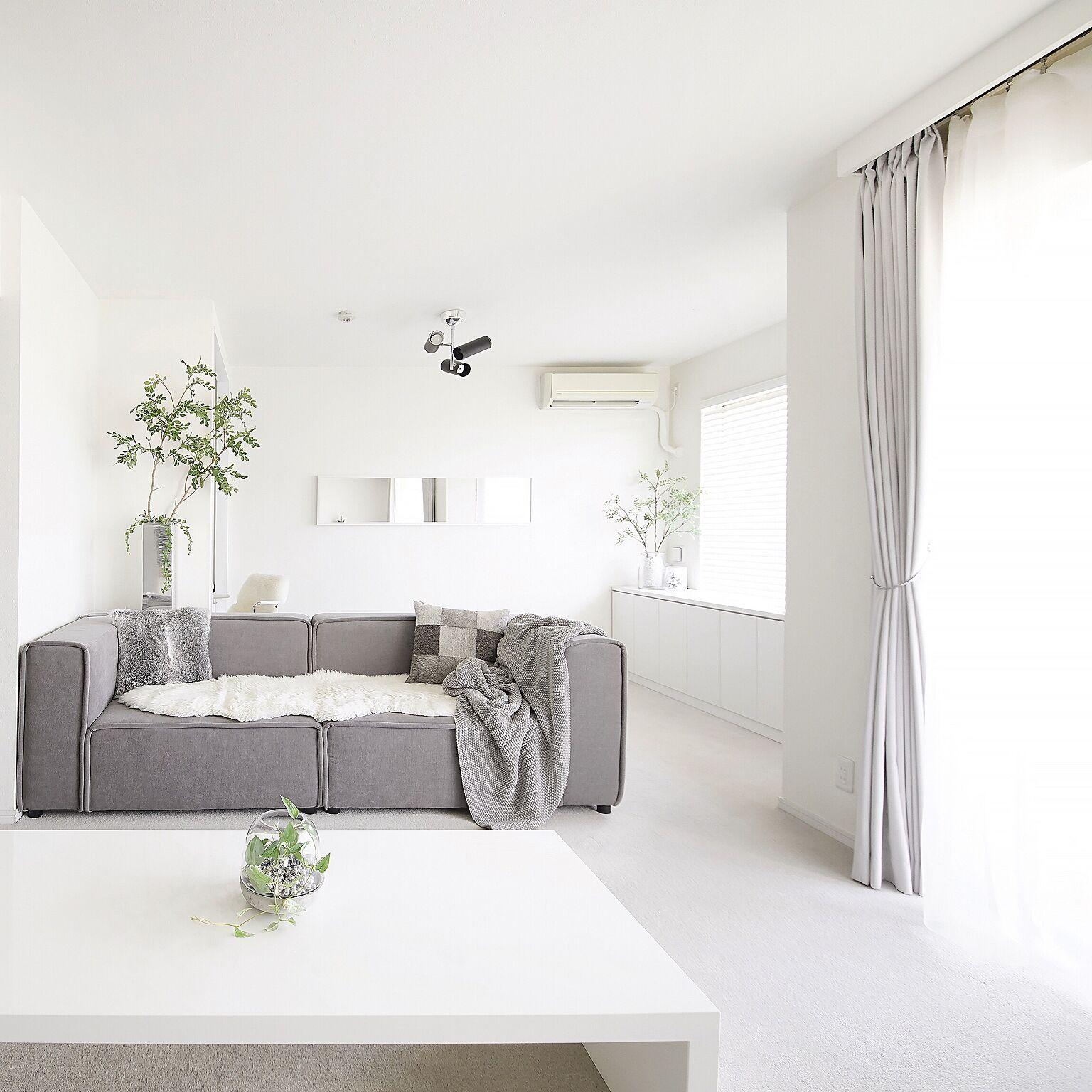 白基調の部屋