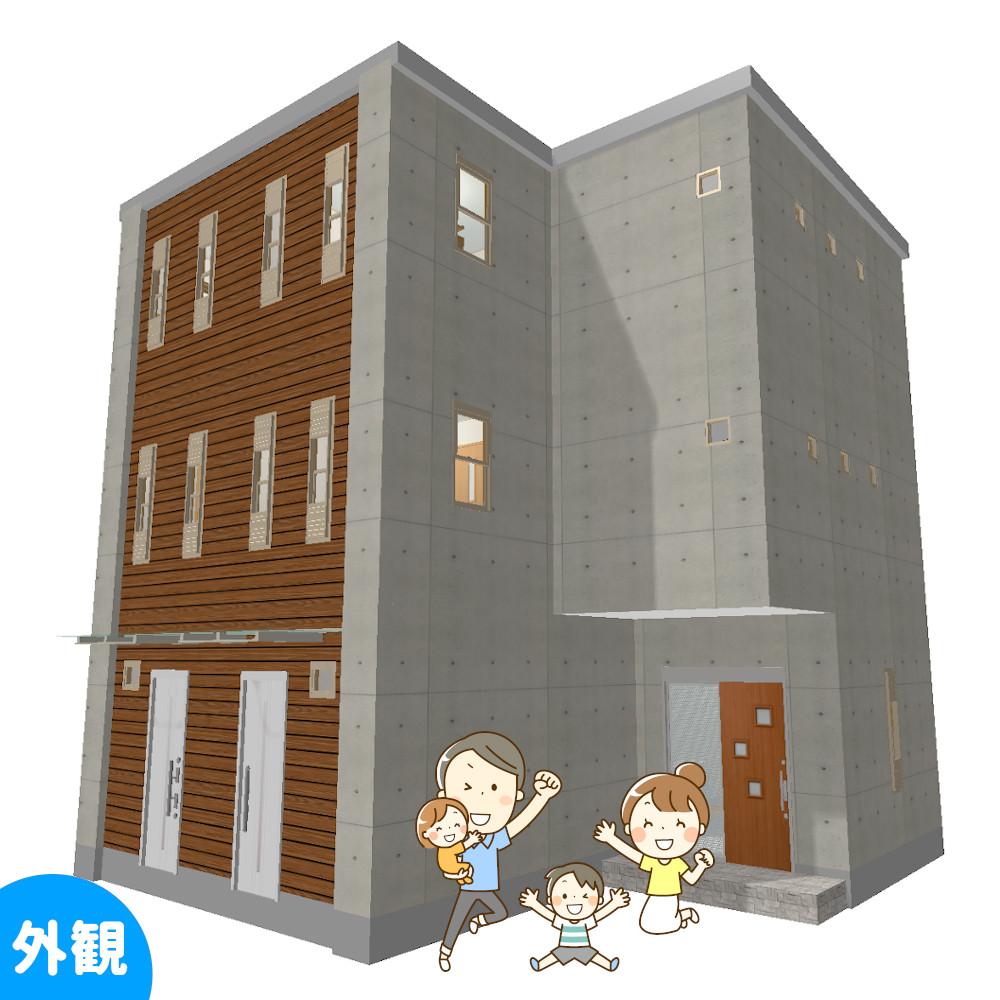 賃貸併用住宅の間取り外観