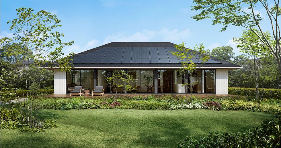 寄棟屋根で太陽光発電