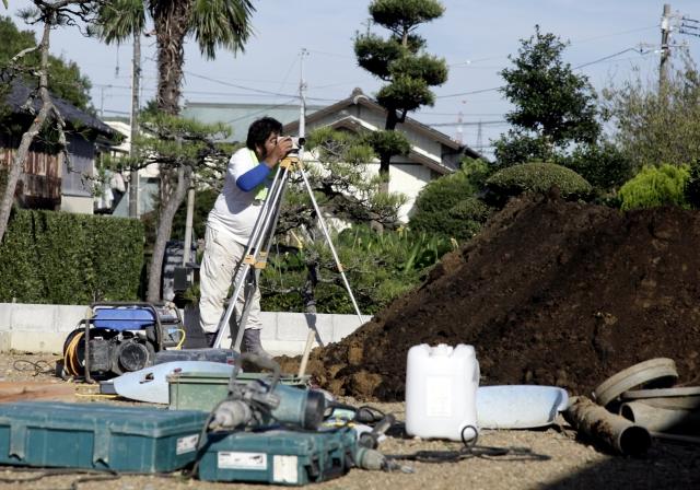 宅地の測量