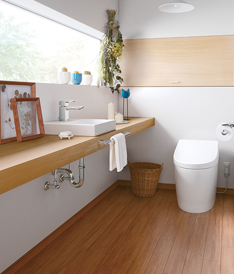 バリアフリー住宅のトイレ
