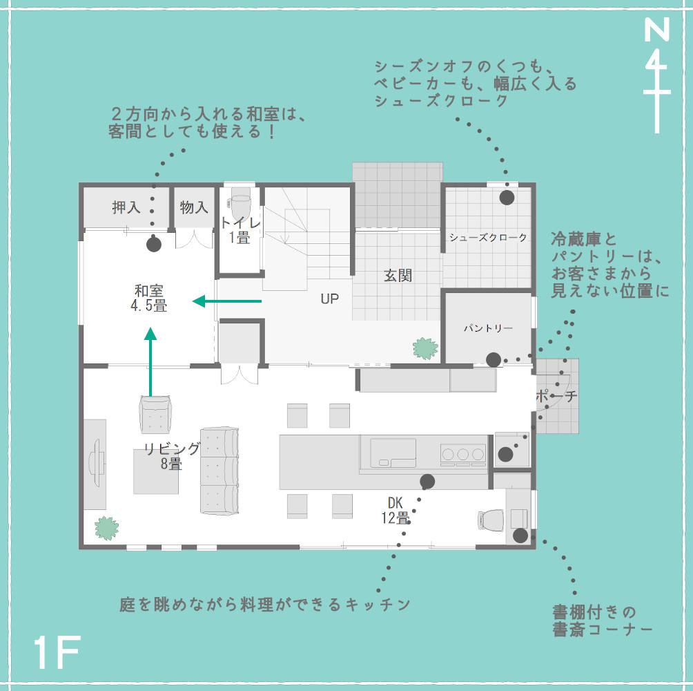 1階のLDK+和室