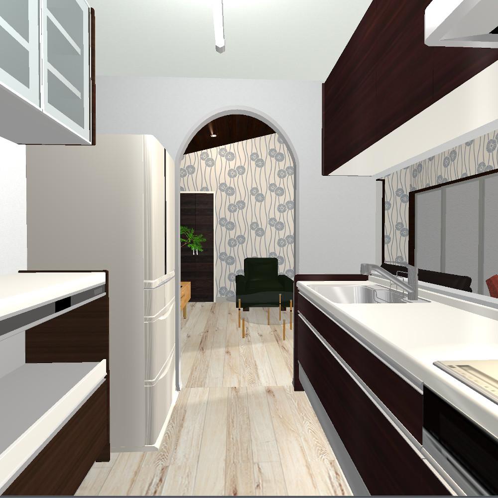 コの字平屋のキッチン