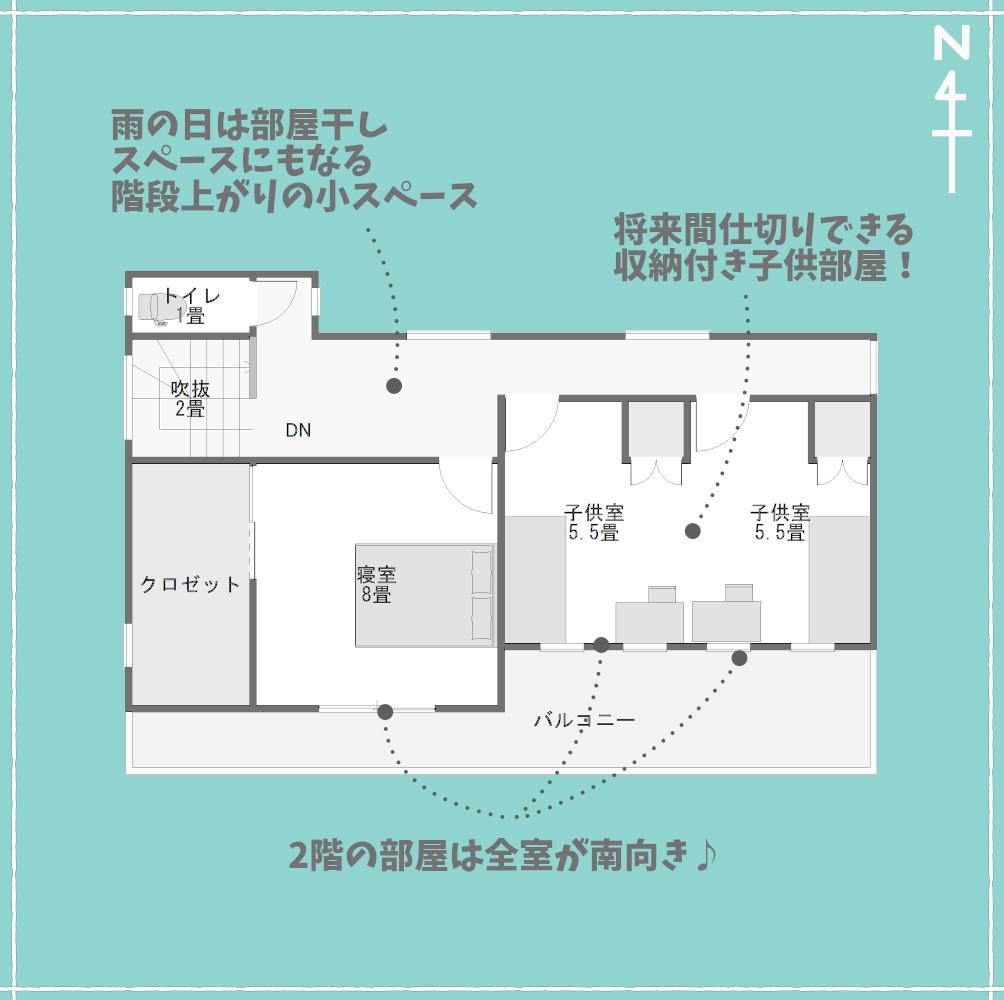和モダンでスタバみたいな家2F特徴