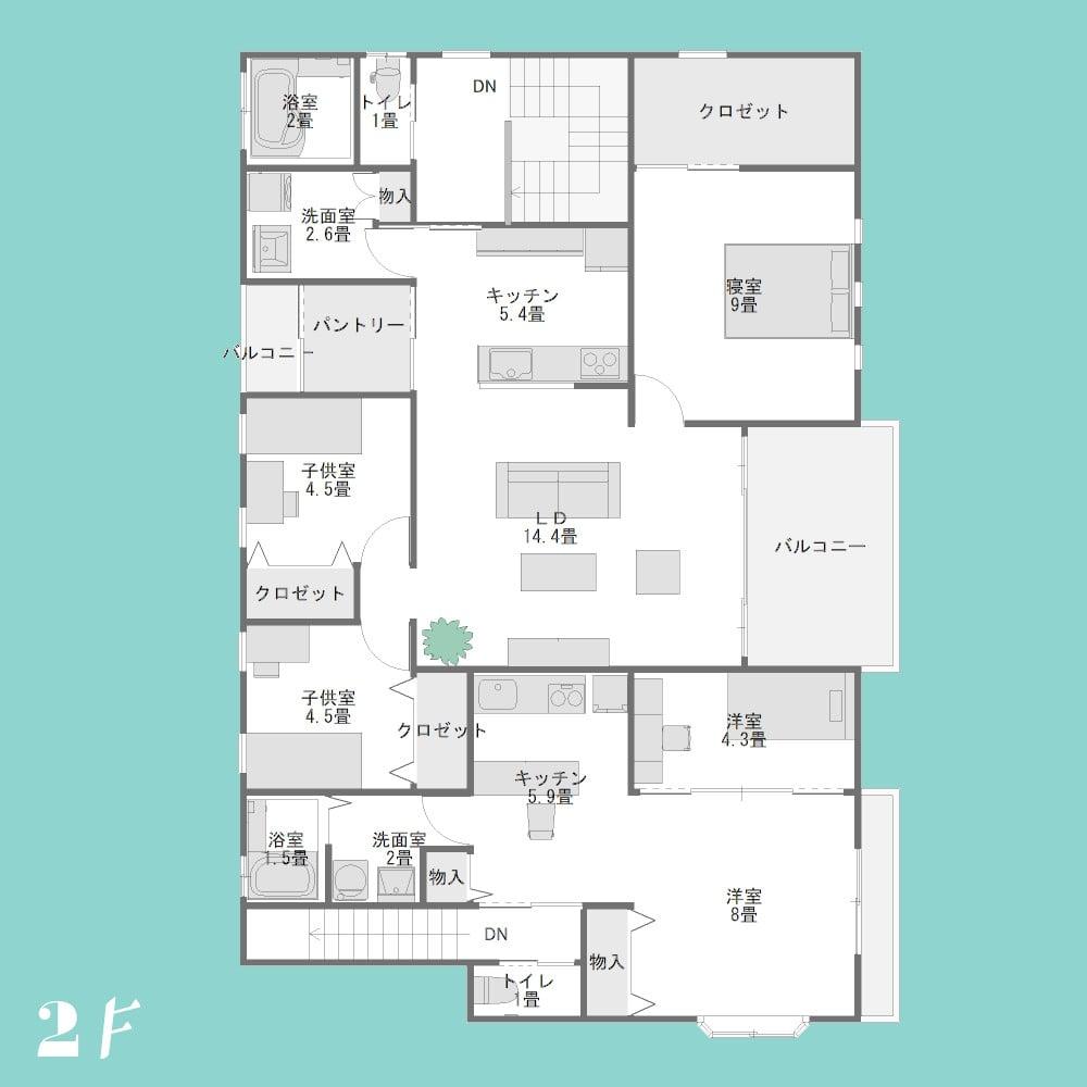 2階建て賃貸併用住宅2F